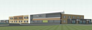 preliminary elevation drawing of new ancaster school