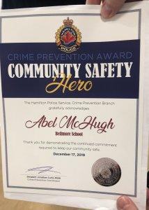 Community Safety Hero Award